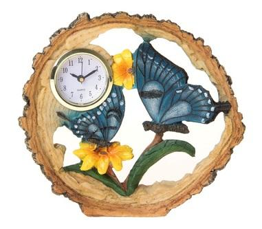 "Часы настольные ""Бабочка в цветах"" 872899"