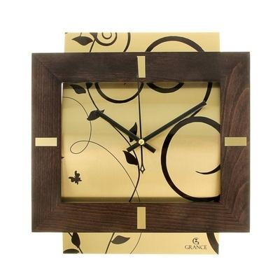 """Часы настенные """"Grance"""", бук, цвет венге-золото 926860"""