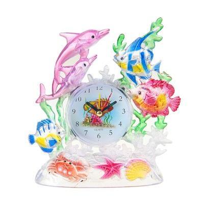 """Будильник """"Рыбки цветные и дельфины"""" 955103"""