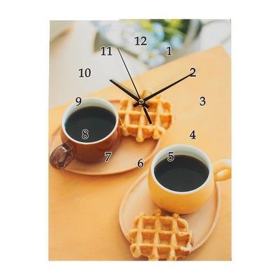 """Часы настенные картина """"Завтрак с венскими вафлями"""" 1025626"""