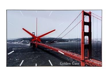 """Часы-картина настенные """"Golden Gate"""", 61х37 см 1113035"""