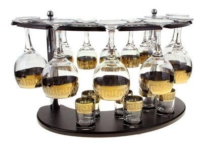 Мини-бар 18 предметов вино, кристалл 911784
