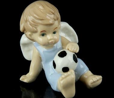 """Сувенир """"Ангел в голубом комбезике с футбольным мячом"""" 865514"""