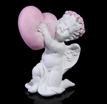 "Сувенир ""Ангел с сердцем, стоит на колене"" 872523"