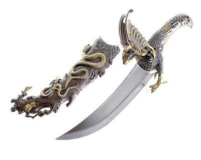 Кинжал сувенирный, рукоять - орёл на охоте 546353