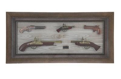 Сувенирное изделие в раме пистолеты с пулями (5шт) 836016