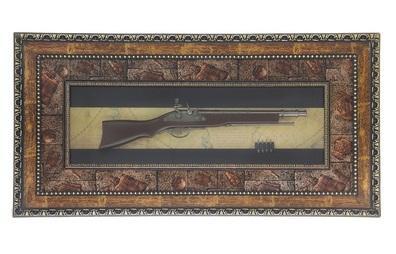 Сувенирное изделие в раме, большой мушкет, пули 836019