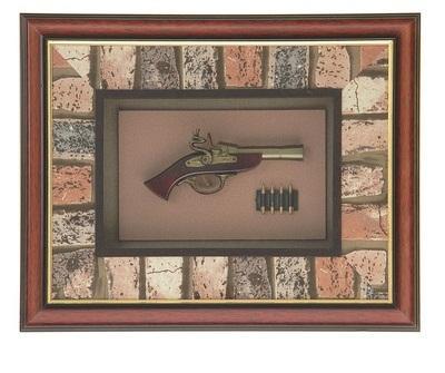 Сувенирное изделие в раме, мушкет с гильзами 836023