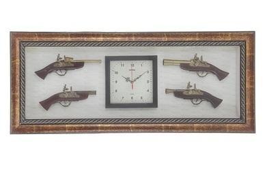 Часы и сувенирное изделие в раме, 4 мушкета 836028