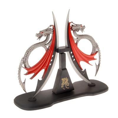 Кинжал сувенирный на подставке, Драконы 870912
