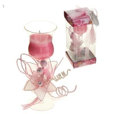 """Свеча восковая """"Цветок искренности"""", цвет розовый 846524"""