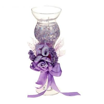 """Свеча гелевая """"Цветочная фантазия"""", цвет фиолетовый 899650"""