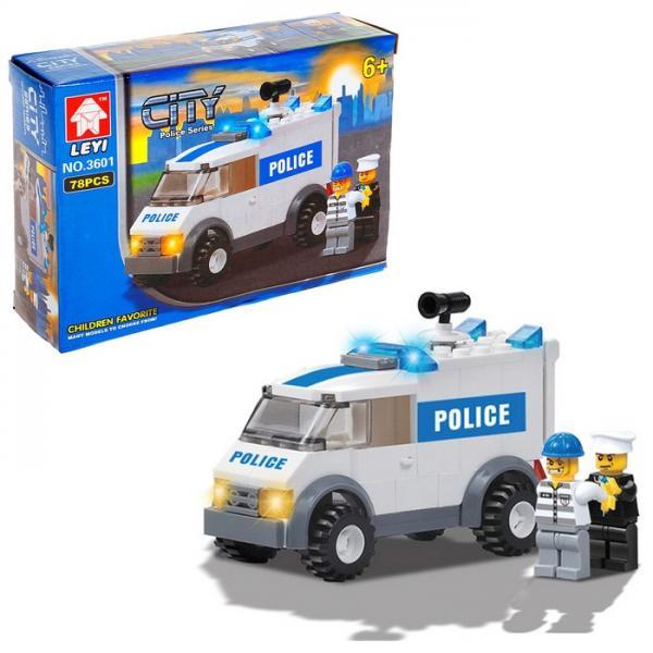"""Конструктор """"Полицейский броневик"""", 78 деталей 1024121"""
