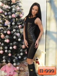 Фото Платья Арт. П-999   Платье со вставками из экокожи