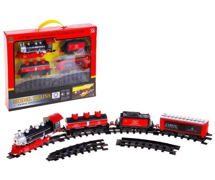 """Железная дорога """"Товарный поезд"""", световые и звуковые эффекты 593621"""