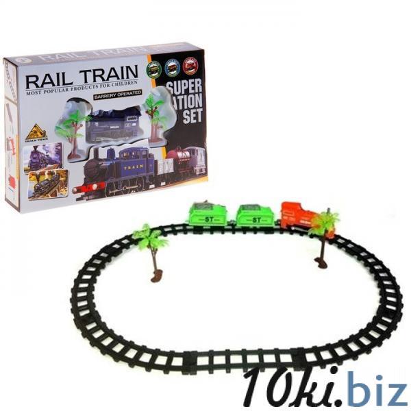 """Железная дорога """"Грузовой локомотив"""", работает от батареек, с 2 вагонами 734988 купить в Актобе - Детские железные дороги, автотреки"""