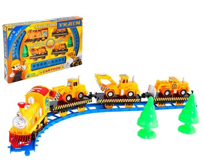 """Железная дорога """"Строительная техника"""", работает от батареек 573333"""