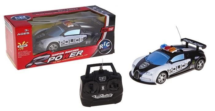 """Машина радиоуправляемая """"Полиция"""", работает от батареек, световые эффекты 567896"""