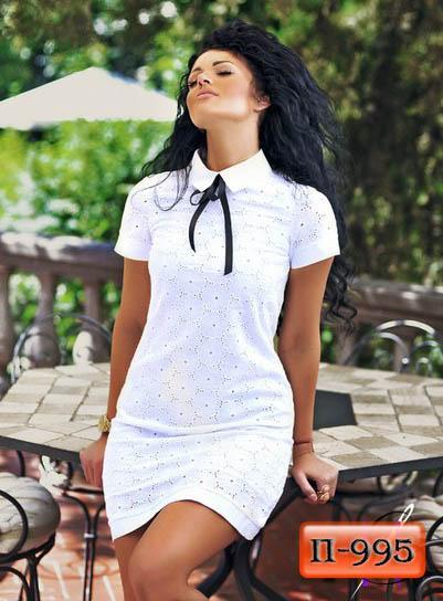 Арт. П-995   Летнее белое платье