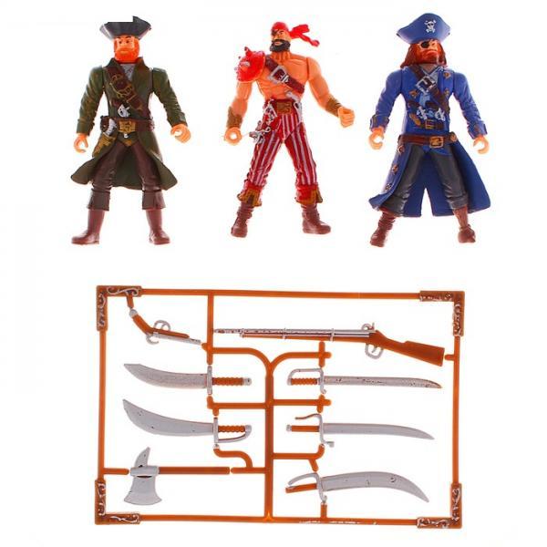 """Фигурка """"Пират"""", набор 3 шт, с оружием 1012647"""
