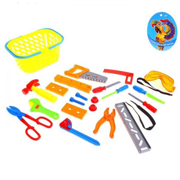 Набор инструментов в корзине, 22 предмета 1008967