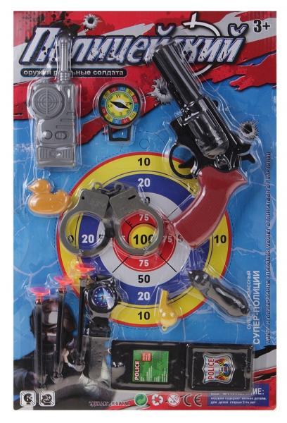 Полицейский набор пистолет с аксессуарами 612199
