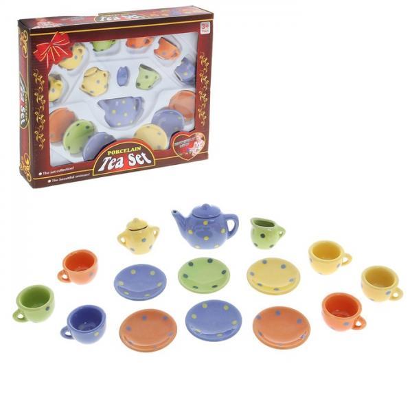 """Набор фарфоровой посуды для кукол """"Горошек"""", 15 предметов 562277"""