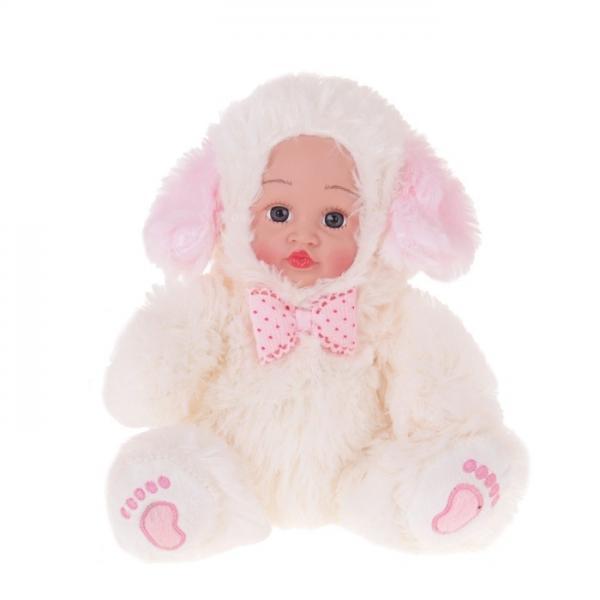 """Мягкая игрушка """"Кукла костюм собачка"""" розовый бантик 304756"""
