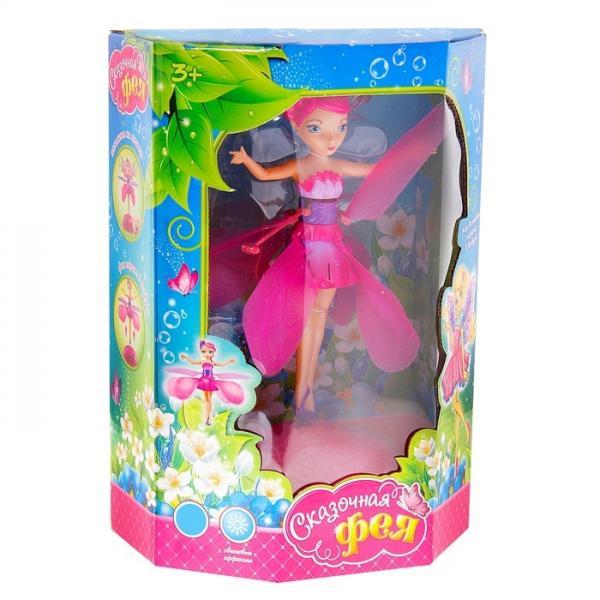 """Кукла летающая и парящая """"Сказочная фея Роза"""", световой эффект, работает от батареек, USB-кабель 515381"""
