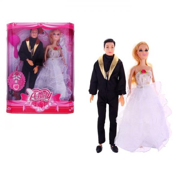 """Кукла """"Лили"""" невеста с женихом 714621"""