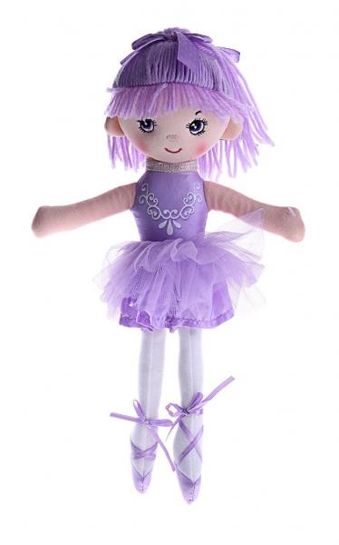 """Мягкая игрушка """"Кукла балерина в пачке, фиолетовая с аппликацией"""" 330325"""