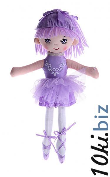 """Мягкая игрушка """"Кукла балерина в пачке, фиолетовая с аппликацией"""" 330325  Мягкие игрушки в Казахстане"""