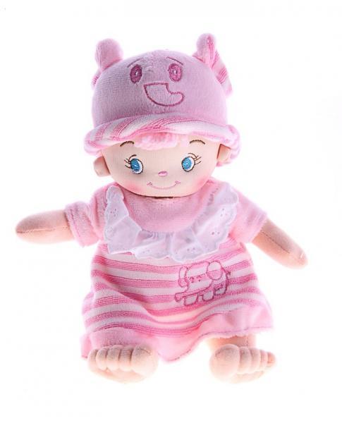 """Мягкая игрушка кукла-пупс в розовом """"Девочка слоник"""" 330302"""