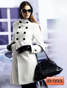 Фото Верхняя одежда Арт. В-999     Пальто белое