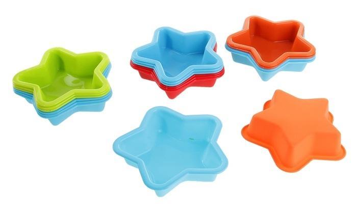 """Набор форм для выпечки силиконовая 11,5х11,5 см """"Морская звезда"""", 6 шт., цвета МИКС 160527"""