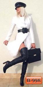 Фото Верхняя одежда Арт. В-998     Пальто без пуговиц