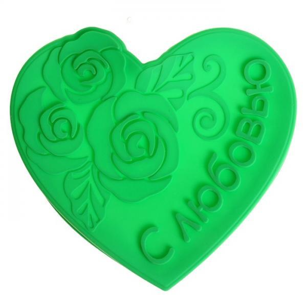 """Форма для выпечки """"С любовью"""", зеленый 1032210"""