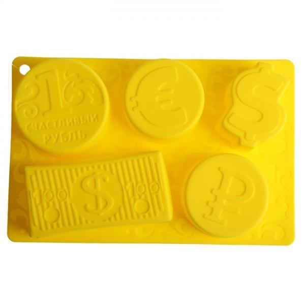 """Форма для выпечки """"Счастливый рубль"""", желтый 1032230"""