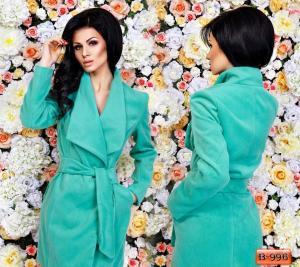 Фото Верхняя одежда Арт. В-996     Пальто на запах с поясом