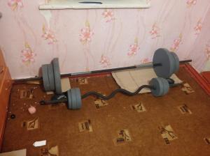 Фото Штанги Штанга изогнутая 45 кг + 5 кг в подарок