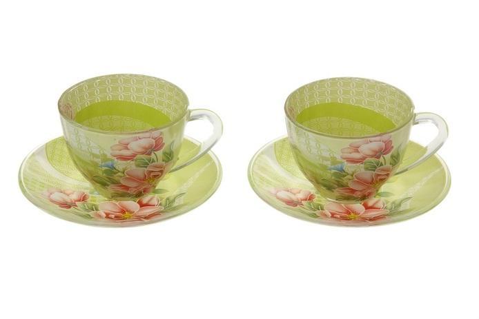 "Сервиз чайный ""Июнь"", 4 предмета: 2 чашки 220 мл, 2 блюдца 811262"