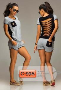 Фото Спортивные костюмы Арт. С-998     Женский спортивный костюм с шортами