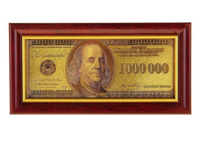 """Купюра в рамке """"1 миллион долларов"""" 825761"""