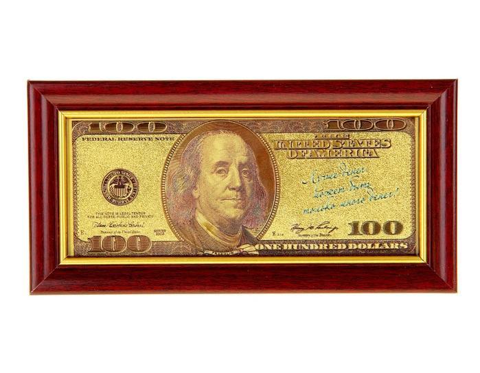 """Купюра в рамке """"100 долларов"""" 825762"""