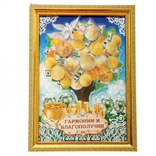 """Денежное дерево в рамке """"Гармонии и благополучия"""" 103790"""