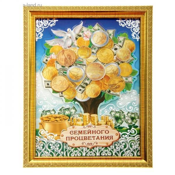 """Денежное дерево в рамке """"Семейного процветания"""" 103791"""
