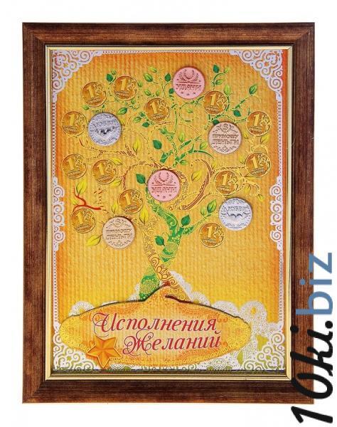 """Денежное дерево в рамке """"Исполнения желаний"""" 717078 купить в Актобе - Сувенирные наборы для мужчин"""