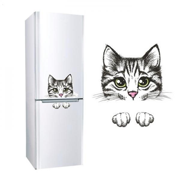 """Наклейка для холодильника """"Кошка"""" 860901"""