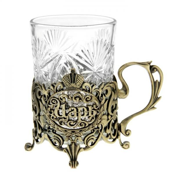 """Подстаканник со стаканом """"Царь"""" 839707"""