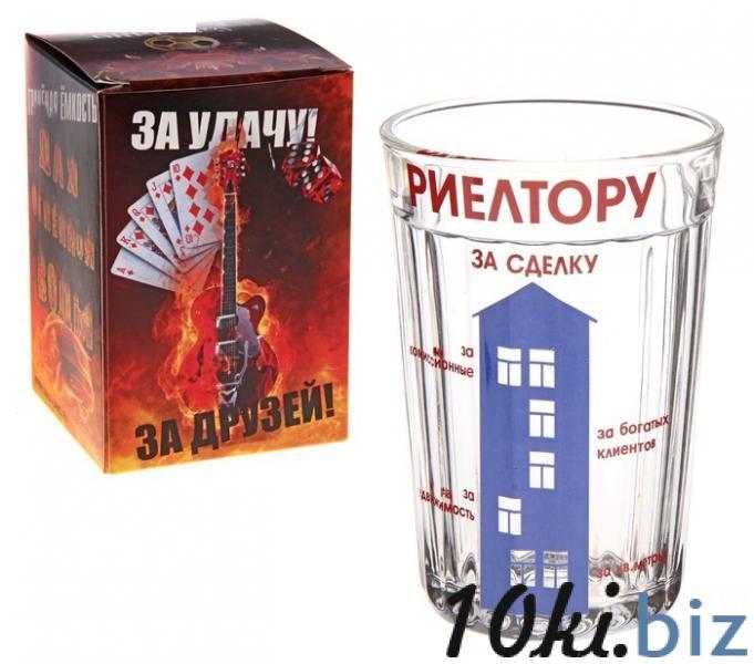 """Стакан """"Риелтеру"""", стекло, в упаковке 187866 купить в Павлодаре - Стаканы с ценами и фото"""